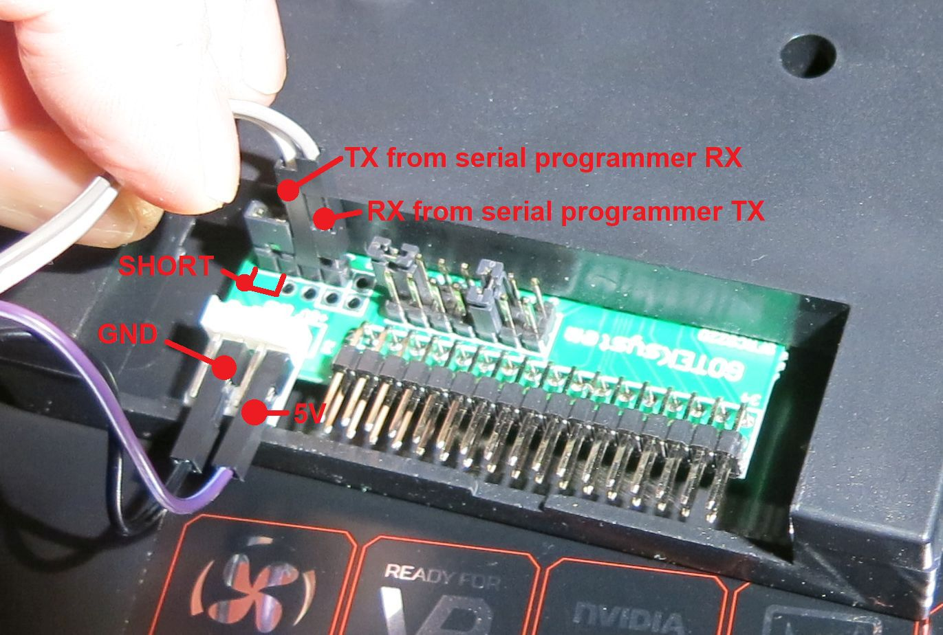 Programmer pin config