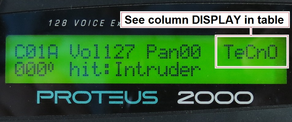 p2k DISPLAY ROM identifier