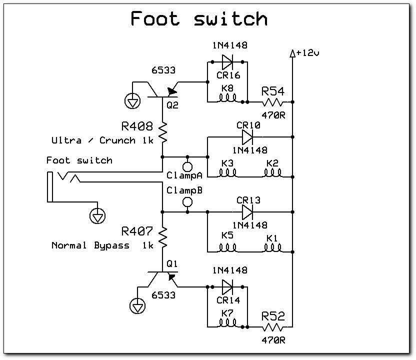 TCTp - Clone of the Peavey Rock Master tube guitar preamp Foot Switch Wiring Diagram Peavey Mace on